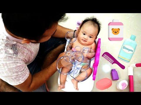 PAPA PUNYA BABY 😂 Parodi Jaga Adik Bayi Nangis Nangis! Hikk