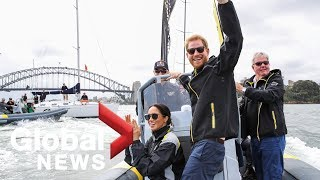 Invictus competitor ditches royal protocol, lifts Prince Harry in hug