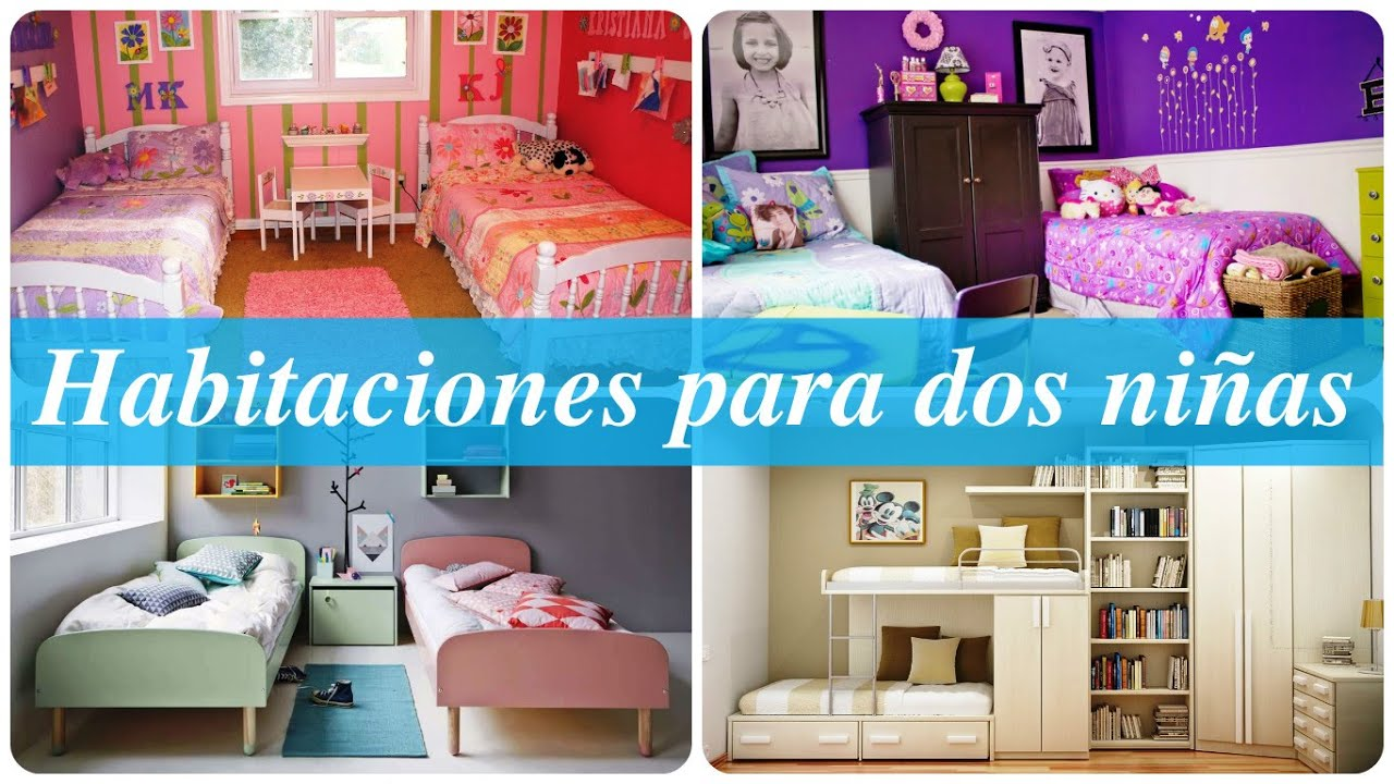 Habitaciones para dos ni as youtube for Decoracion de cuartos para 2 ninas