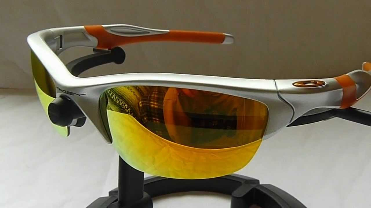 Oakley Half Jacket 2 0 Silver Frame Fire Lens Orange