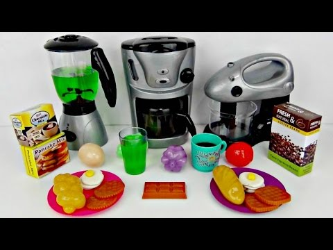 Making Breakfast Kitchen Playset with Blender, Mixer & Coffee Maker