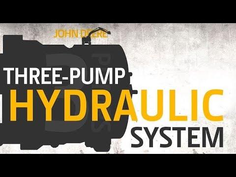 John Deere Excavators Three Pump Hydraulic System