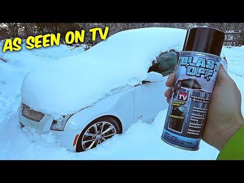 Blast Off Windshield De-Icer - ICE TEST - As Seen On TV
