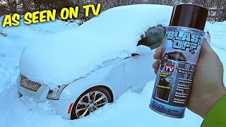 Blast Off Windshield De-Icer - ICE TEST - As Seen on TV