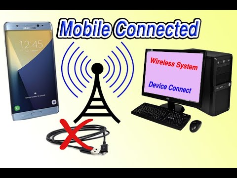 how to connect mobile with computer without data cable - Transfer files mobile to pc without cable