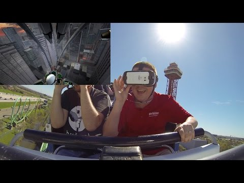 Virtual Reality on New Revolution roller coaster at Six Flags Over Texas