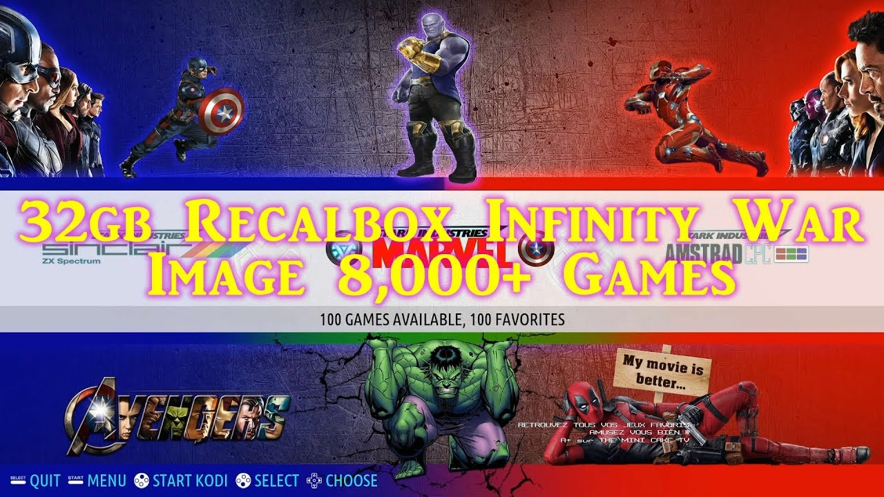 Marvel Infinity War Retro Gaming Recalbox 32gb MCTV Image - 8,000 Games by  DrewTalks