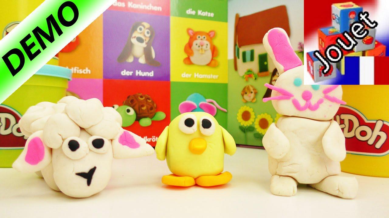 Lapin de Pâques en pâte à modeler Play-Doh à faire soi-même | Bricoler déco pour Pâques Partie 3 ...