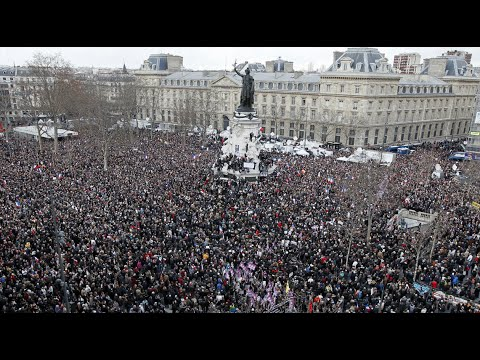 """""""Circus of Hypocrisy"""": Jeremy Scahill on How World Leaders at Paris March Oppose Press Freedom"""