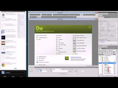How to edit wordpress theme using Dreamweaver - YouTube