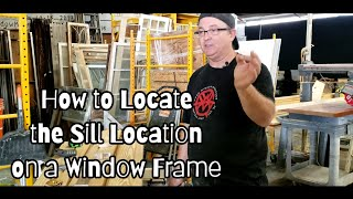How to Locate the Sill on a New Window Frame Build
