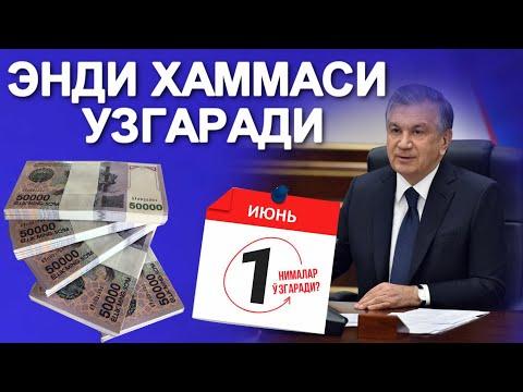 МАНА ЯНГИЛИК 1-ИЮНДАН БОШЛАБ СИЗ КУТМАГАН ЯНГИЛИКЛАР......