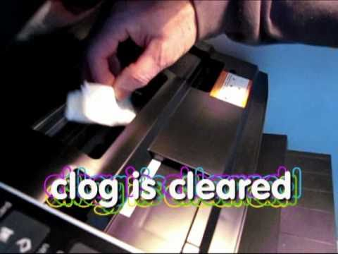 InJet Printer Clog - Simple Way To Clear CLOG