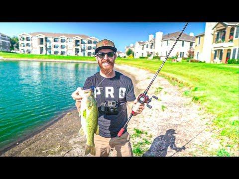 FISHING URBAN DALLAS APARTMENTS FOR BIG BASS 🔥