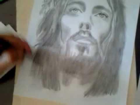 Dibujo de jesucristo  fb Talento del Aguila  YouTube