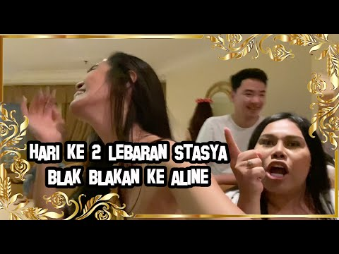 LEBARAN HARI KE 2 BERSAMA MAMI ONLINE, STASYA, DKK   STASYA KESEL DENGAN ALINE   BATTLE DANCE !?!?