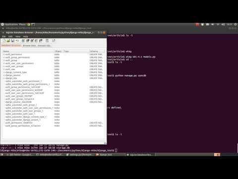 Python Django Tutorial - Settings and Databases