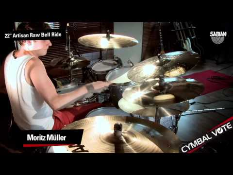 "CYMBAL VOTE - Moritz Müller Demo's the 22"" Artisan Raw Bell Ride"
