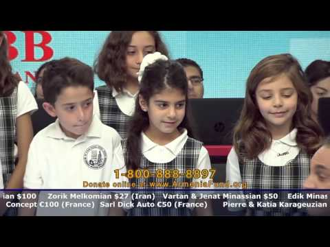 Ari Guiragos Minassian Armenian School at Armenia Fund Telethon 2015
