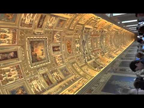 Halls of Vatican walking towards the Sistine Chapel