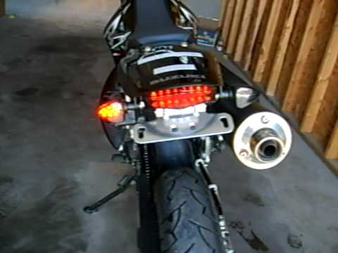 drz400sm edge tail light youtube. Black Bedroom Furniture Sets. Home Design Ideas