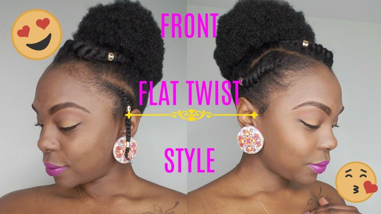 4c Natural Hair Style On Short Medium Hair Flat Twist Tutorial
