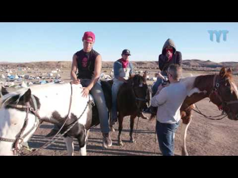 Standing Rock Horsemen Protect Against SHADY DAPL Infiltrators