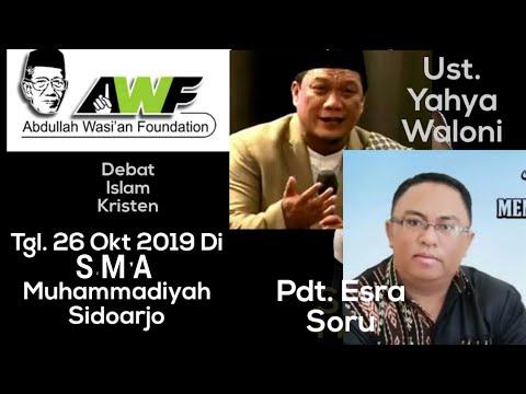 Pernyataan Resmi AWF. Debat -Ust. Yahya Waloni VS Pdt. Esra Soru