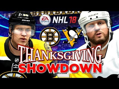 NHL Thanksgiving Showdown 2017 - Penguins vs Bruins (NHL 18)