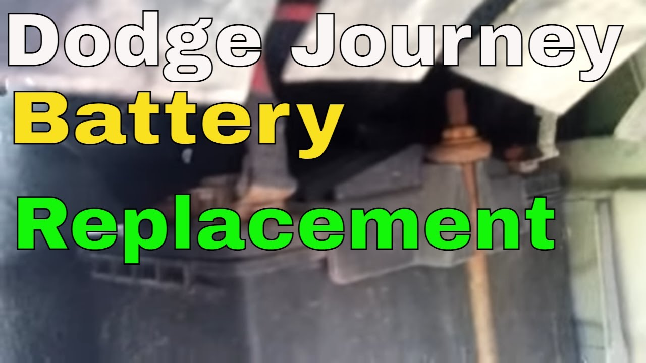 how to replace your battery in dodge journey 2009 youtube. Black Bedroom Furniture Sets. Home Design Ideas