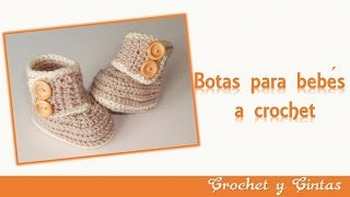 Botas – zapatos crochet para bebés de todas las edades - Parte 1