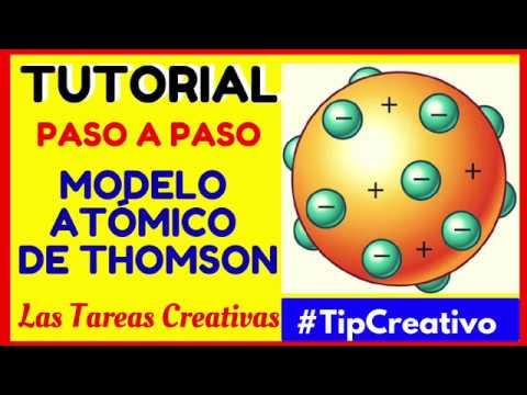 Modelo Atómico De Thomson Maqueta En Unicel U Poliestireno Lastareascreativas