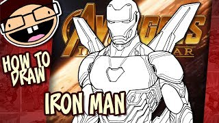 How to Draw IRON MAN (Avengers: Infinity War) | Narrated Easy Step-by-Step Tutorial
