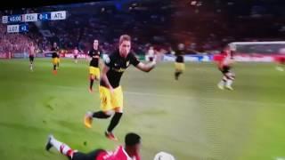Psv 0-1 atletico madrid penalty mis