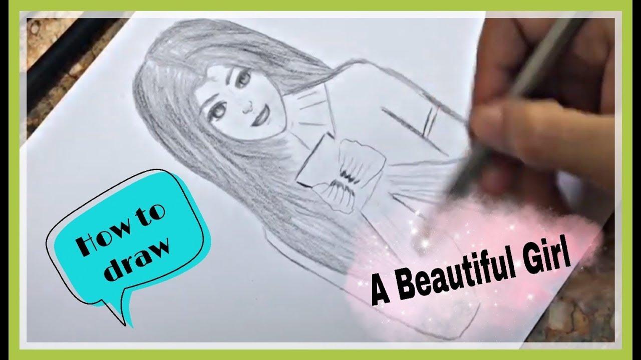 Hướng dẫn vẽ cô gái xinh đẹp bằng bút chì