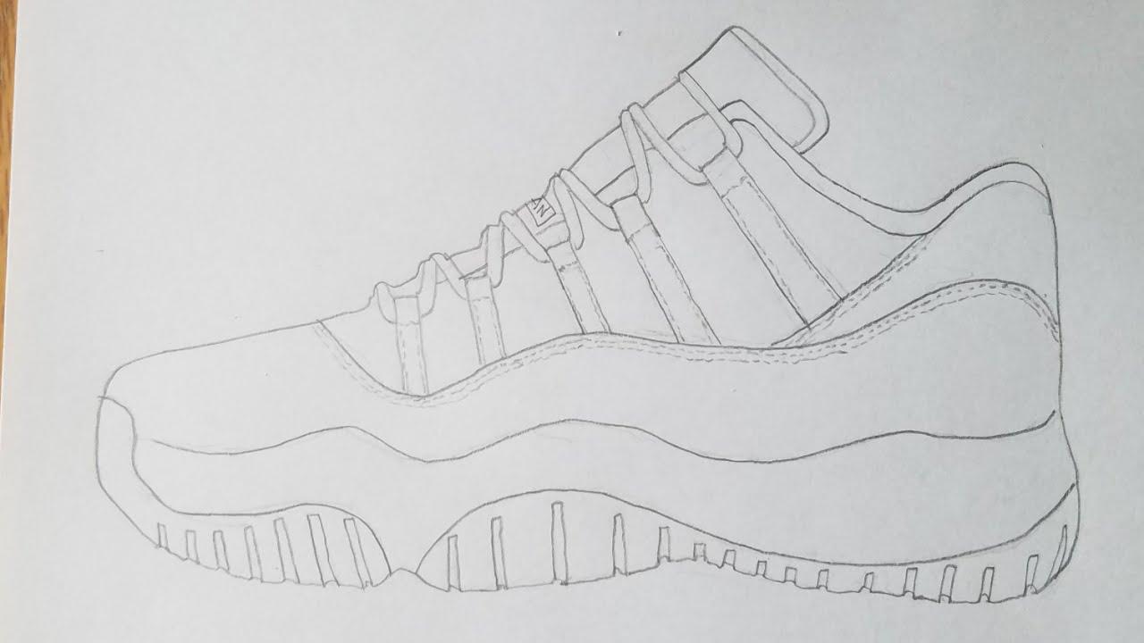 How To Draw The Jordan 11 Low Hyperlapse