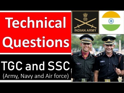 TGC And SSC Tech  Technical Questions | SSB