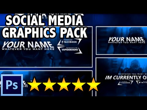 Featured: FREE SICK Social Media Graphics Pack - Twitch, Youtube & Twitter  - Photoshop Template #1