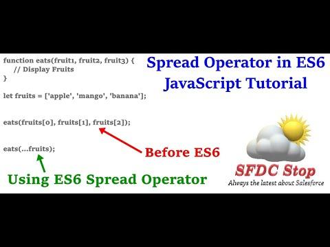 ES6 Spread Operator | Rest Parameters in JavaScript | JavaScript Tutorial Series by SFDC Stop