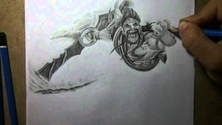 Pencil Drawing - Gladiator Draven
