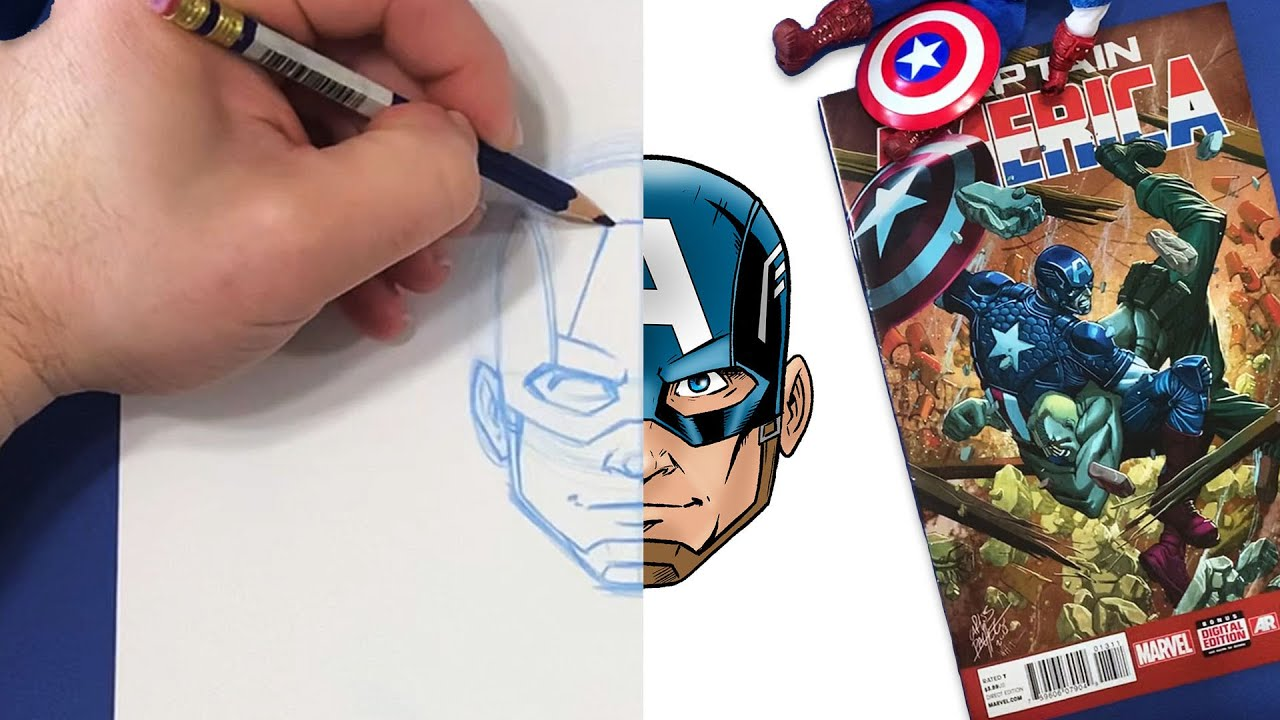 You Can Draw Captain America!   Marvel Draw!