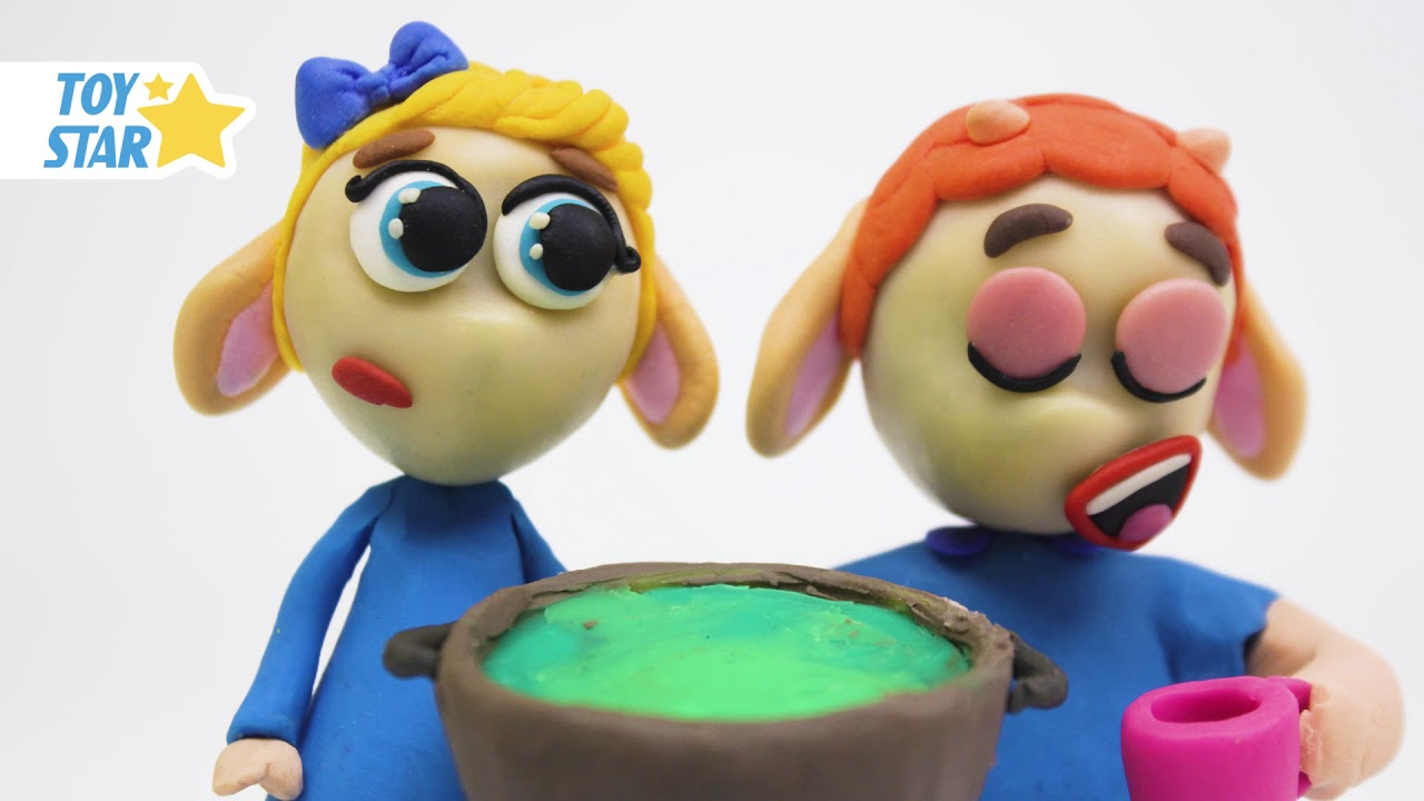 Princesa Dolly e Amigos PLAY DOH STOP MOTION desenhos animados para crianças #545