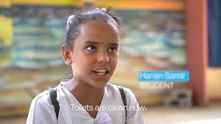 Clean water and a healthy environment for students enhance learning in Yemen
