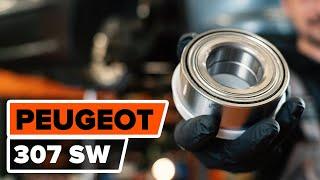 Cómo cambiar Juego de cojinete de rueda PEUGEOT 307 SW (3H) - vídeo gratis en línea