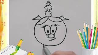 Уроки рисования для детей Давай нарисуем Нюшу