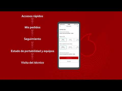 Gestiona tus pedidos desde la App Mi Vodafone