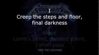 Metallica - Creeping Death Lyrics (HD)