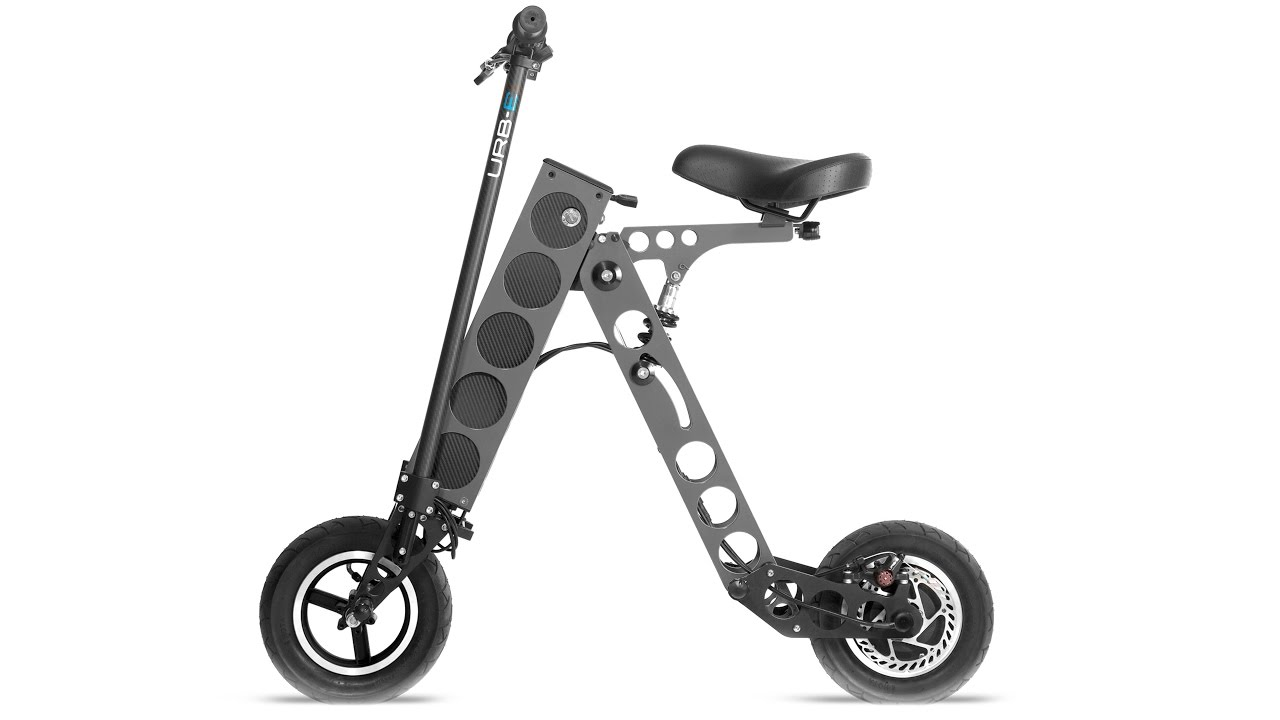 Urb E Sport Electric Scooter Charges Multiple Electronic Devices Simultaneously