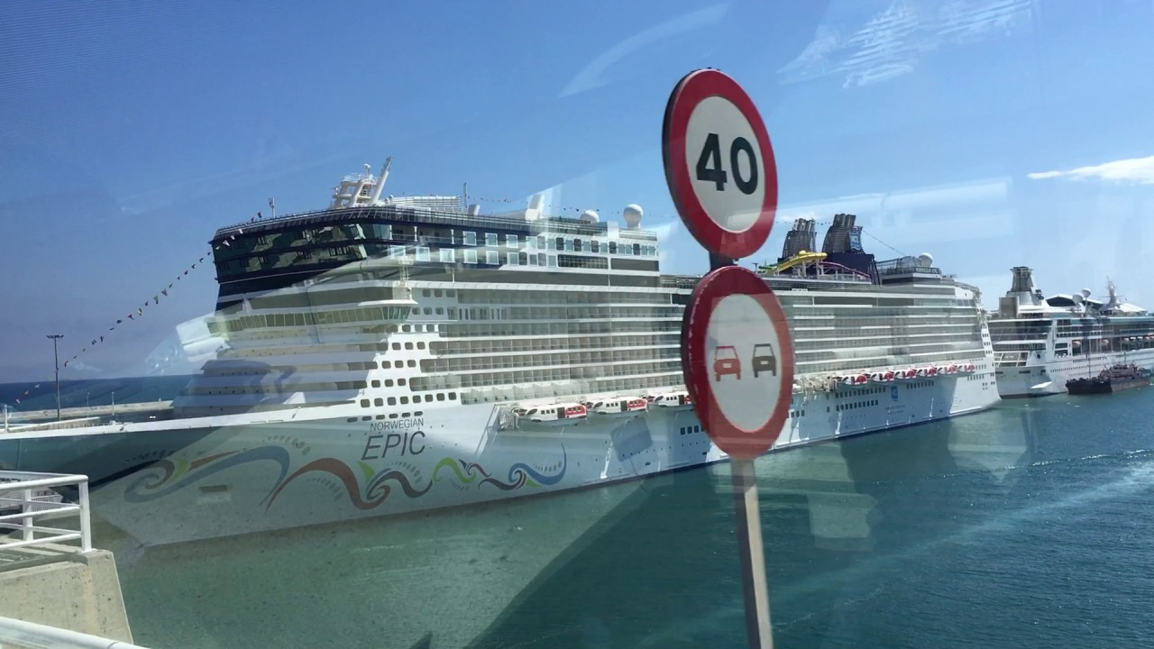 Barcelona Cruise Terminal Ncl Epic Embarkation Youtube