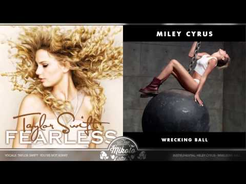 Taylor Swift vs. Miley Cyrus - You're Not Sorry (Mashup)